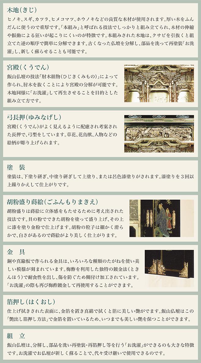 飯山仏壇 特徴